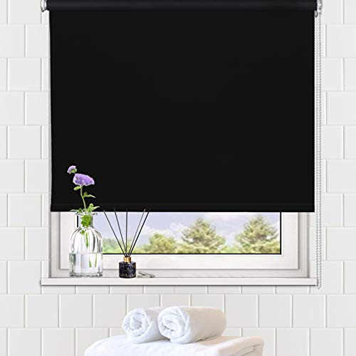 LUCKUP 100% Blackout Waterproof Fabric Window Roller Shades Blind, Thermal...