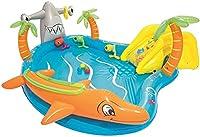 Wyyywキッズスイミングプール上の地上プールスライドとスプリンクラーの水中ウォーターパークプールで移動可能