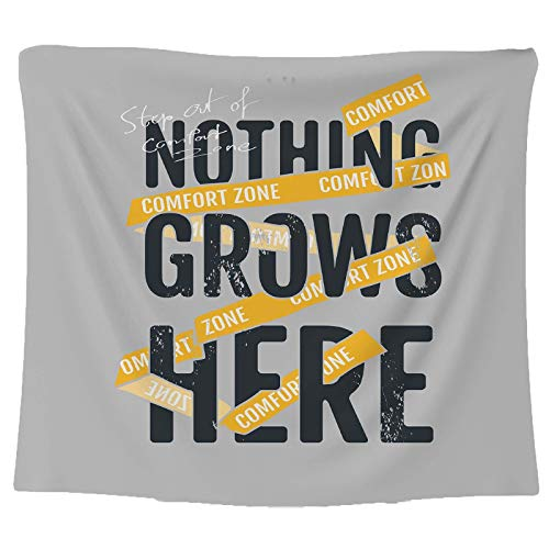 JHWSX Tapestry Wall Hanging, Modern Minimalist Quote Positive Sayings Letters Curtain Picnic Tapestry, Polyester Blanket Home Decor Tapestry (Color : 6, Size : 200×150cm)