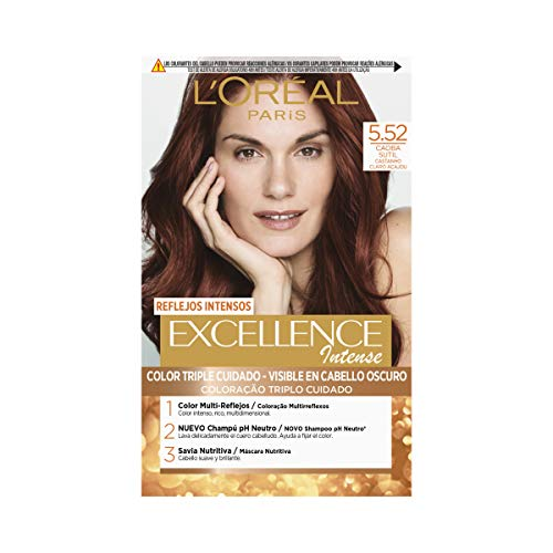 L'Oréal Paris Excellence Intense Coloración, Tono: 5,52 Caoba Sutil