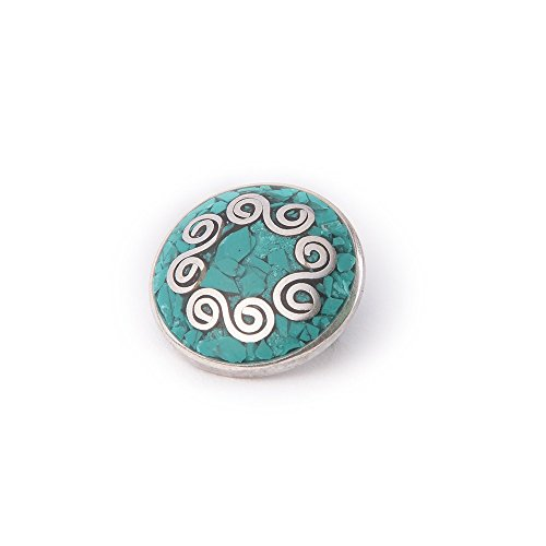 Noosa Chunk 053 Chakra turquoise-brass with turquoise