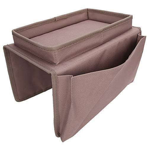 TOPINCN Bolsa de Almacenamiento para sofá, Bolsa de Almacenamiento para sillón Resistente al Desgaste, para pequeños aparatos Diarios Almacenamiento de sofá(marrón)