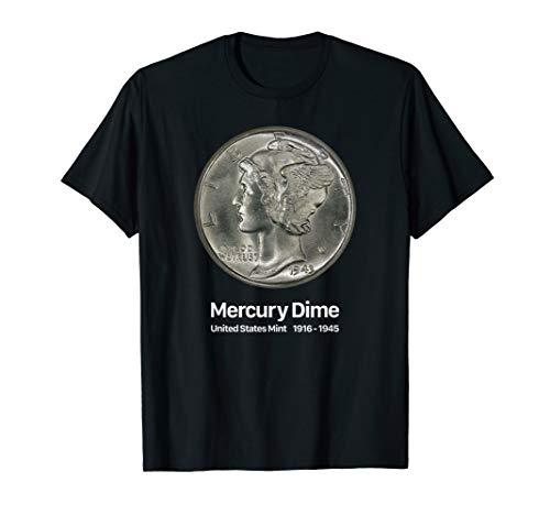 Coin Collector Mercury Dime T-Shirt