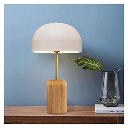 Lámpara Escritorio Personalidad creativa madera de bambú lámpara de mesa de setas de hierro forjado nórdico simple moderno aprendizaje sala de estar decoración lámpara de mesa lámpara de iluminación