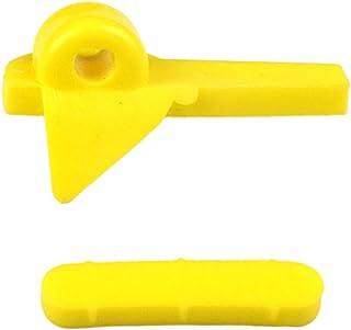 D DOLITY 2 x 57 mm Cabeça de pato para pneus Acessórios de nylon Plástico Protetor Pássaro