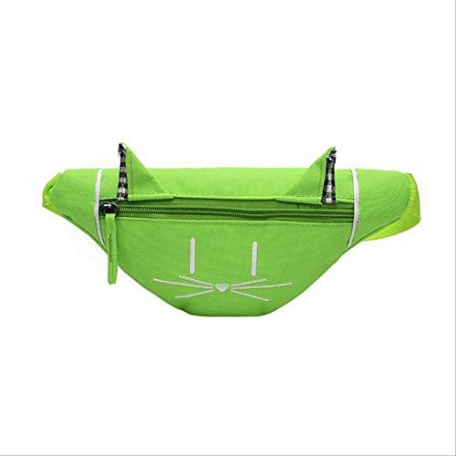 WUBS Belt Bagchildren's Taille Bag Kids Cute Cat Ears Chest Canvas Pocket Money Belt Bag Shoulder Taille Bag China Groen