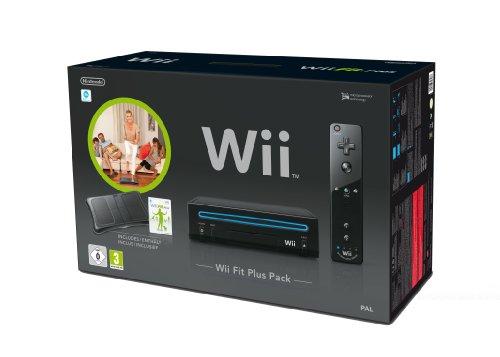 Console Wii noire + Wii Fit Plus + Wii Balance Board - noir + Télécommande Wii Plus - noire
