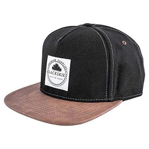 Blackskies Behemoth Snapback Cap   Unisex Baseball Mütze Kappe Herren Damen Basecap Nubuck - Schwarz Braun