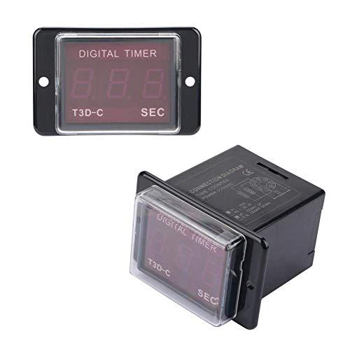 YEESEU T3D-C Contador Digital, Tiempo LED Digital Contador del Temporizador de Tiempo de retardo de relé 8-Pin 99,9/999 Sec 220VAC
