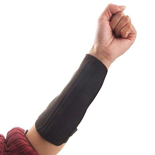 Langlebige Bogenschießen Sport 3-Strape Arm Guard Wrap Protector (schwarz)