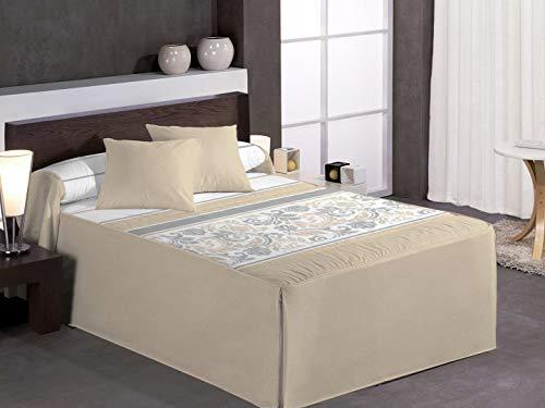Reig Martí Tagesdecke Quilt Beige Bett 90 cm...