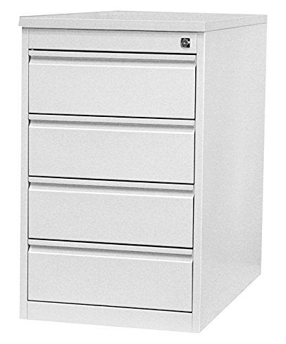 Profi Stahl Büro Standcontainer Bürocontainer lichtgrau 509500 Maße: 750 x 460 x 790 mm