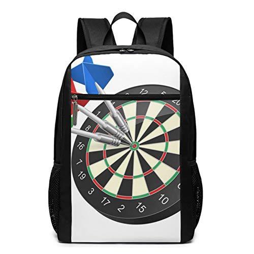 Schulrucksack Accuracy Raster Dartboard Darts, Schultaschen Teenager Rucksack Schultasche Schulrucksäcke Backpack für Damen Herren Junge Mädchen 15,6 Zoll Notebook