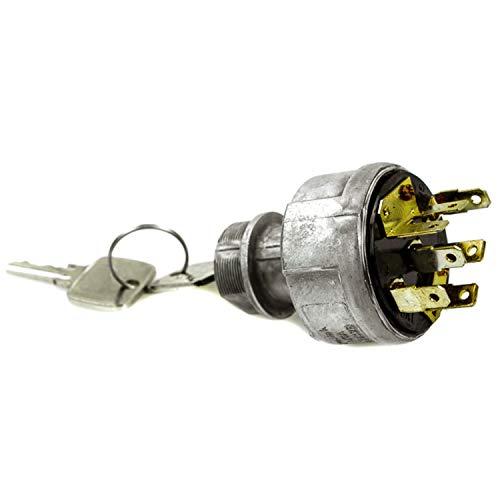 Interruptor de Encendido AR58126 Interruptor Rotativo con 2 Llaves para John Deere Tractor 940 955 1020 1030 3030 3040 3050 4455 6403 7020 8630 8640 Retroexcavadora Carga 500A