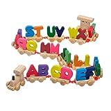 YeahiBaby Giocattoli magnetici in Legno con Alfabeto, Lettere in Legno Giocattoli educativi precoci, Lettera educativa in Legno Montessori per Bambini