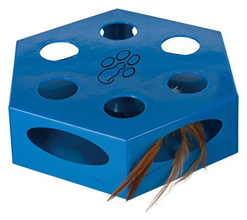 Trixie 46007 Turning Feather, Kunststoff, ø 22 cm, blau