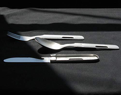ナガオ燕三条キャンプアウトドアカトラリーセット3本ナイフスプーンフォークaged日本製