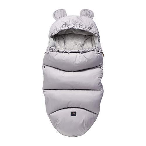 Cochecito de niño Saco de Dormir, bebé Saco de Dormir Patada a Prueba, espesante para Mantener el Calor y el frío, Gris 46 cm x 100 cm (sin Carrito),M