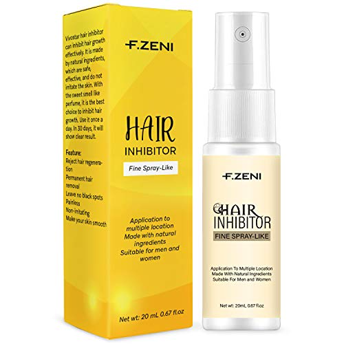 F.ZENI Hair Inhibitor, Upgraded Airless Spray, Painless Hair Growth Stop Spray, Non-Irritating Hair Growth Inhibitor, for Face, Underarm, Arm, Leg, Bikini, with Pleasant Scent