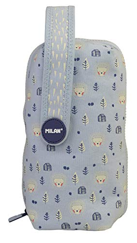 MILAN Kit 4 Estuches con Contenido Berrywood Azul Estuches, 22 cm, Azul