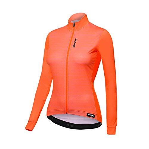 Santini Scia Women's Maillot à Manches Longues Femme, Orange, x-Large