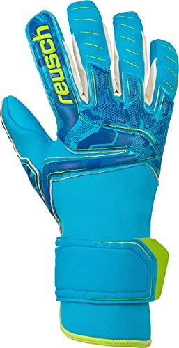 Reusch Herren Attrakt Pro Ax2 Evolution Nc Torwarthandschuhe, Aqua Blue/Bright Green/Aqua Blue, 9