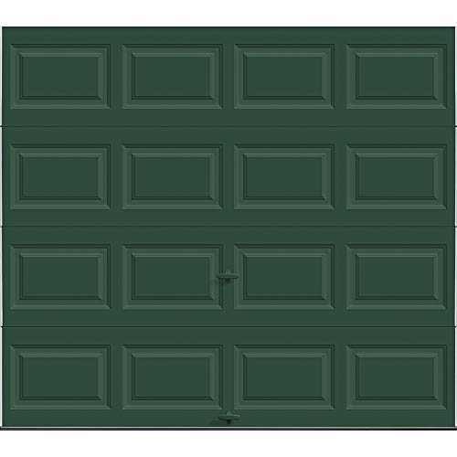 Find Discount Holmes Gold Series 9 ft. x 7 ft. 9.0 R-Value Insulated Solid Hunter Green Garage Door