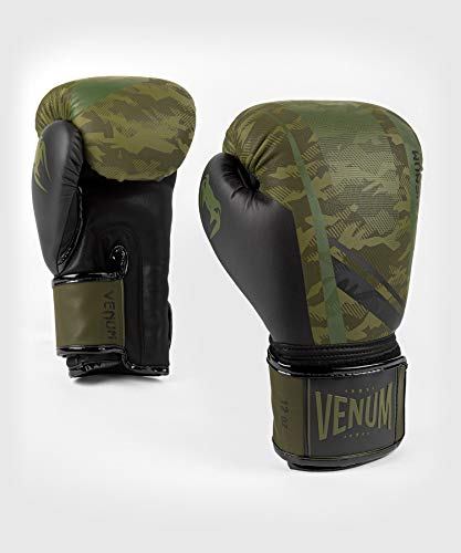 Venum Trooper Boxing Gloves - Forest camo/Black, 16-Ounce