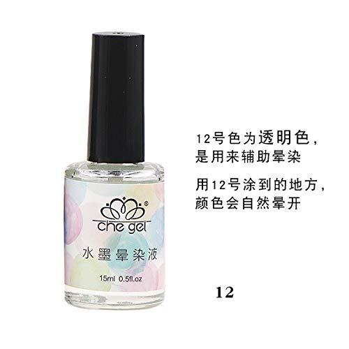 Ocamo Fototherapie Nagellack Marmortinte Nagel Gel Fleck Lquid Gradient Maniküre Nail Art 12