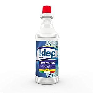 KLEP - Cloro Liquido Eco Cloro MULTIAZIONE Pulizia Manutenzione IGIENE TRIPLEX per Piscina E Spa 10 AZIONI 1 kg