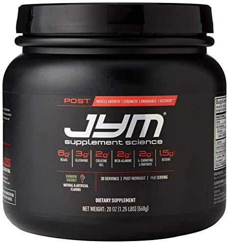 JYM Supplement Science Post Active Matrix Rainbow Sherbert Powder, Pack of 30