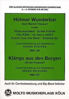 WUNDERBAR + KLAENGE AUS DEN BERGEN - arrangiert für Klavier - (Akkordeon) [Noten / Sheetmusic] Komponist: HOEHNER