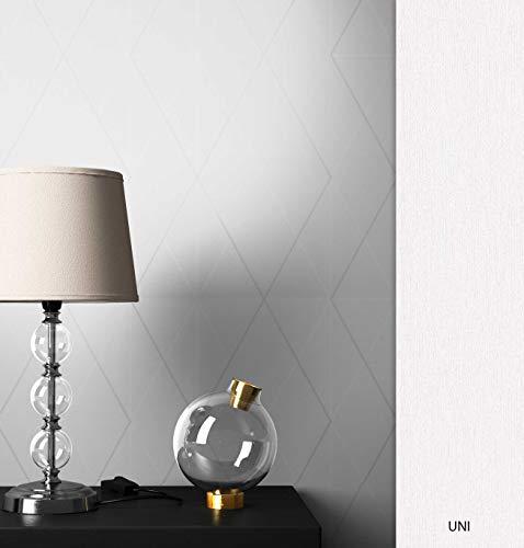 NEWROOM Tapete grafisch Weiß Geometrisch Grafik Vliestapete Vlies Grafiktapete Modern inkl. Tapezier Ratgeber ǀ Grafik