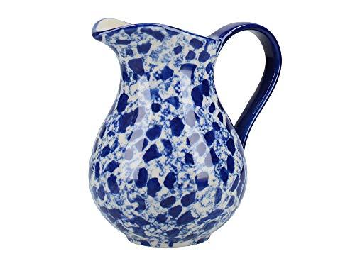 London Pottery C001004 Pichet à lait, Céramique, bleu/blanc, 430 ml