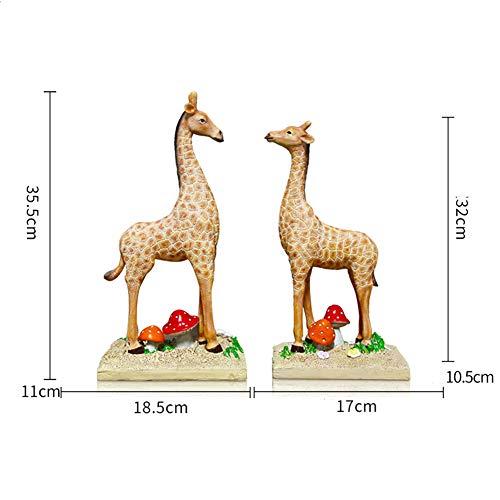 American girafdier decoratie, handwerk creatieve kantoor aan huis winkel Bogu plank raamdecoratie, gepersonaliseerde hars decoratie,B