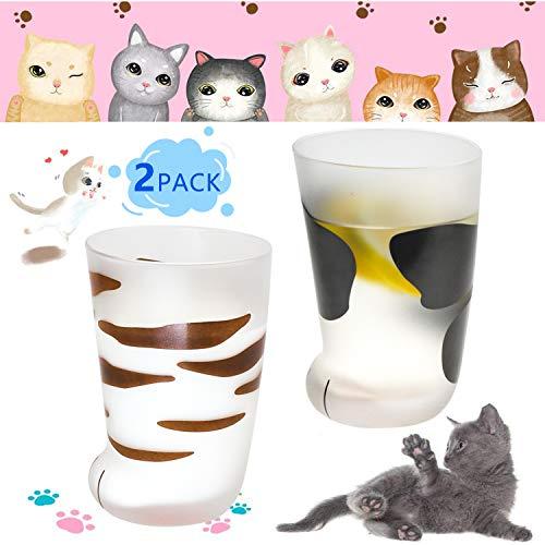 Novedad Garra de gato tazas de vidrio divertidas tazas de café regalo de cumpleaños para los mejores amigos, personalidad desayuno taza de leche hombres