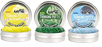 Crazy Aaron s Summer Themed Bundle 3 Pack - Spring Showers Cheep Cheep Fresh Grass 2  Tins  0.47 oz Each  - Summer 2021 Exclusive Bundle