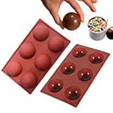 Hot Chocolate Bomb Mold Silicone Semi Ball Mold for Making Cocoa Bombs (2)