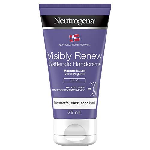 Neutrogena Norwegische Formel Visibly Renew Glättende Handcreme mit LSF 20, pflegende und schnell einziehende Handpflege Creme für intensive Feuchtigkeit (1 x 75 ml)