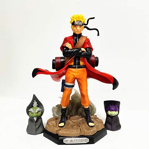 Qwead Anime Naruto Shippuden Uzumaki Sage Mode Action Figure Naruto Figurine with Frog Modello da Collezione Giocattoli 23 Cm