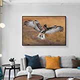 LPaWD Animal Print Eagle Poster Wall Art Canvas Painting Nordic Posters and Prints Wall Pictures Print Art Mural Decoration A3 60x90cm