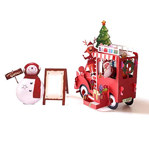 3DHandmade Snowman Santa Claus Christmas Float Paper Invitation Greeting Card Postcard New Year Party Creative Gift