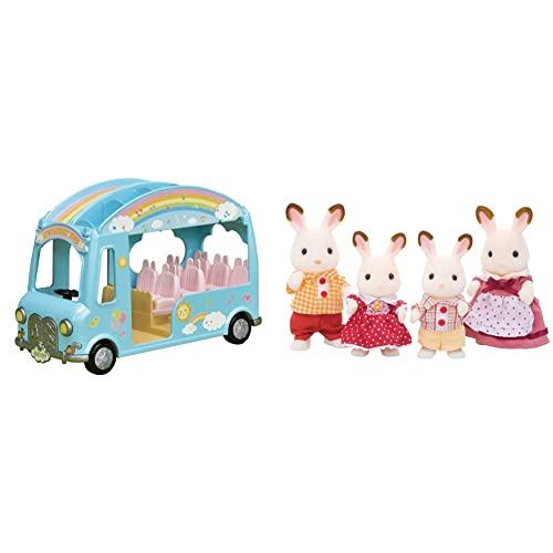 SYLVANIAN FAMILIES - 5317 - Autobús De La Guardería+ - 4150 - Familia Conejo Chocolate