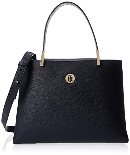 Tommy Hilfiger Damen Th Core Med Satchel Tornistertasche, Mehrfarbig (Sky Captain), 11.5x0.1x28 centimeters