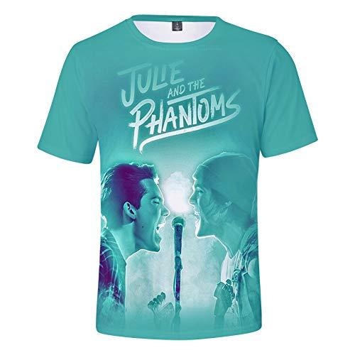 Julie and The Phantoms Camiseta Mujer Tops de Manga Corta Moda t Shirt Verano Casual Hombres Ropa Cuello Redondo Estampado Suelto