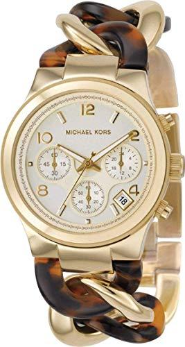 Michael Kors MK4222 - Reloj de Mujer de Cuarzo, Correa de Resina Color Oro