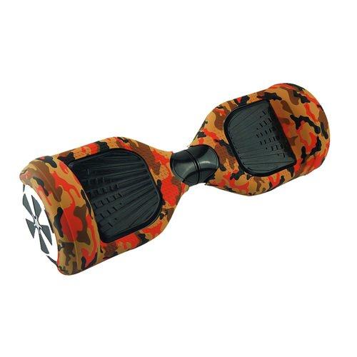 Doppel-EUST Silikon-Hoverboard-Abdeckung, Ganzkörper-Silikon-Gummi-Schutzhülle, für 16,5 cm (2 Räder), selbstbalancierend, Desert Camo
