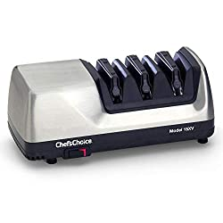 Chef's Choice 15 Trizor XV Edgeselect Electric Knife Sharpener, Brushed Metal