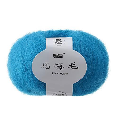 H.Eternal - Ovillo de lana de algodón suave para tejer, para hacer tú mismo, bufanda de ganchillo y ganchillo, madera, K, M
