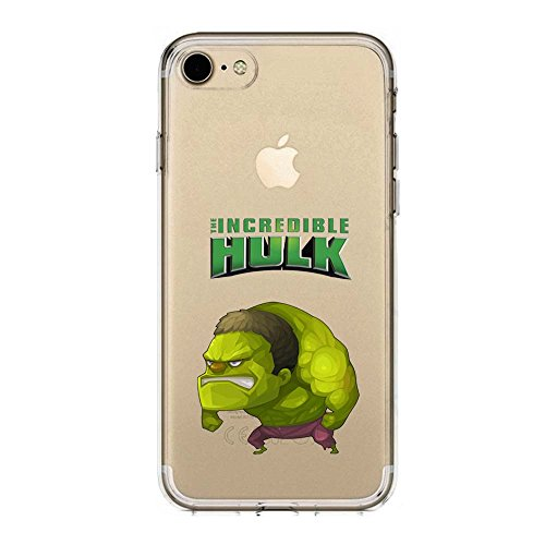 SLIDE IP7 / IP8 Cover in TPU Gel Trasparente Custodia Protettiva Collection, Baby Hero Collection, L'incredibile Hulk, iPhone 7, iPhone 8